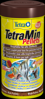 TetraMin Pellets 250 мл ТетраМин Пеллетс новый корм с высокоэффективными усилителями цвета для всех видов тропических рыб